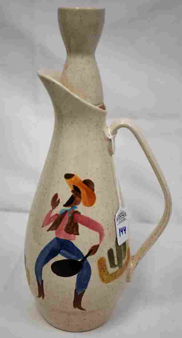 Rare 1958 Round-Up by Red Wing Large Water Jug &Stopper