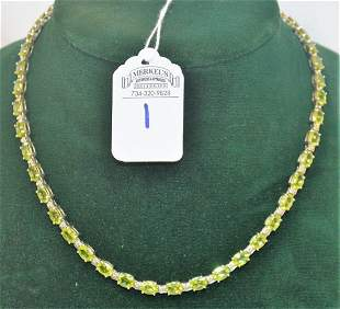 Magnificent Peridot Tennis Necklace