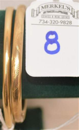 Lot of 214Kt Gold Bangle Bracelets