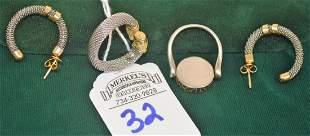 Ring Earring Set