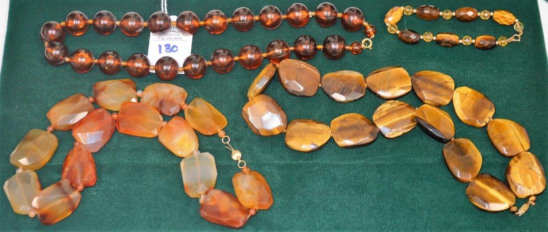Lot of 8 necklaces & 1 bracelet - 10
