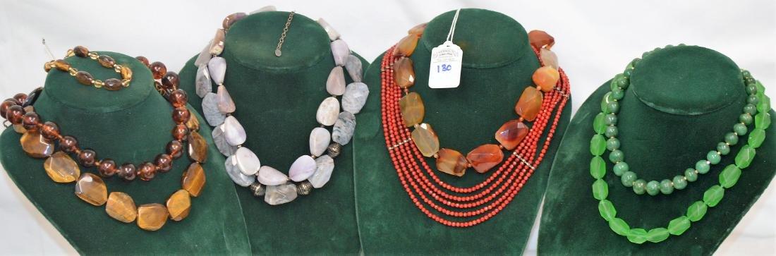Lot of 8 necklaces & 1 bracelet