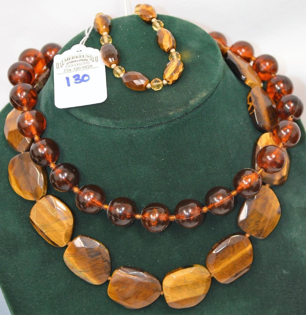 Lot of 8 necklaces & 1 bracelet - 2
