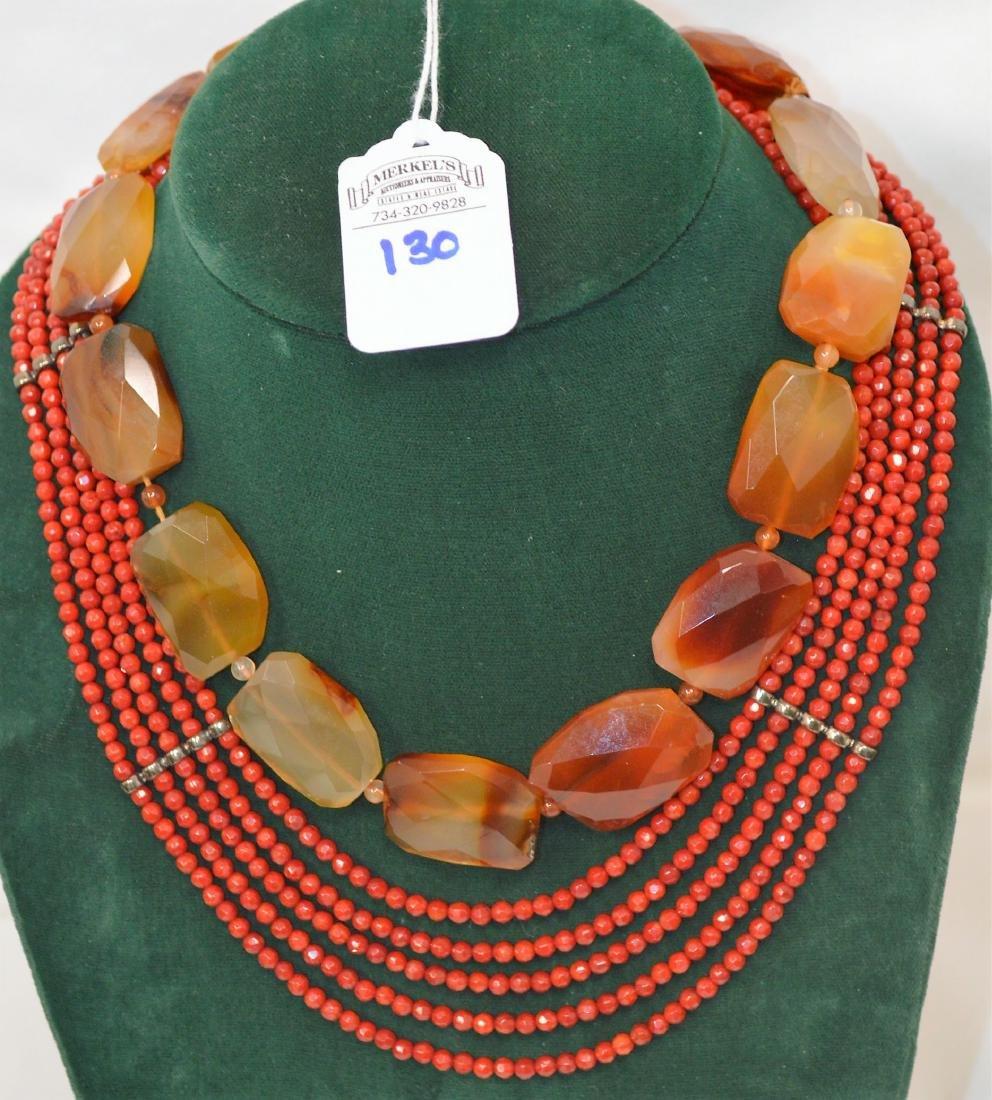 Lot of 8 necklaces & 1 bracelet - 6