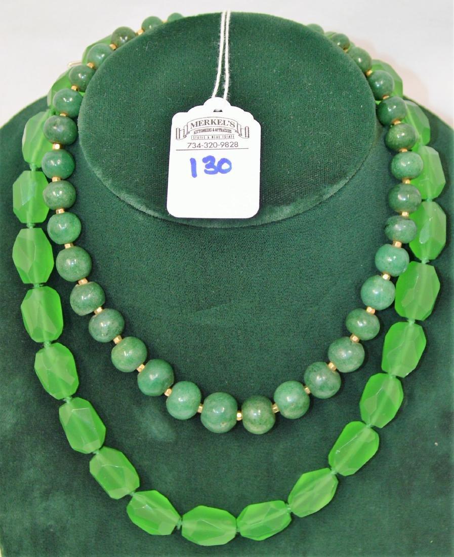 Lot of 8 necklaces & 1 bracelet - 8