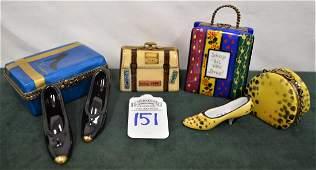Limoges France 4 Boxes: Purse, Shoes, & Bags - 7 pieces