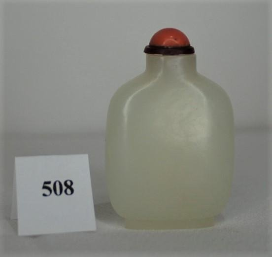 White Jade Snuff Bottle Circa 1820-1880