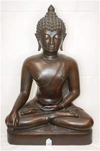 Large Bronze Buddha Figure 28.5 inches
