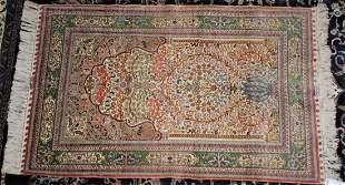 Hereke Silk Prayer Rug 3 ft x 4 ft 9 in