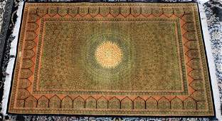 Fantastic Persian Qum  Wool & Silk 4x6 Carpet