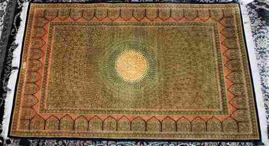 Fantastic Persian Qum  Wool & Silk 4x6 Carpet