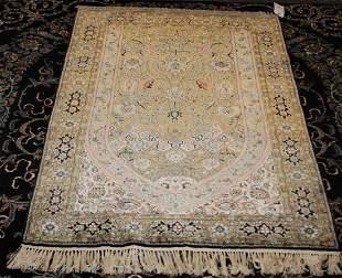 QUM Silk Persian Prayer Rug 36 ft x 53 ft