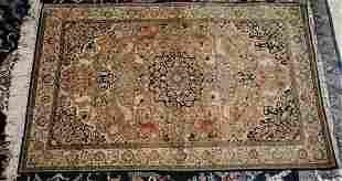 QUM Silk Oriental Rug 3 ft 6 in x 4 ft 2 in