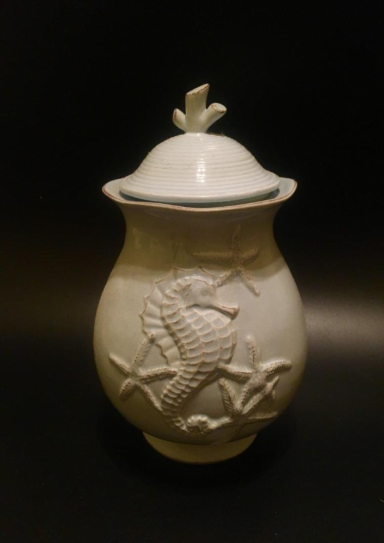 Asian Carved candy jar