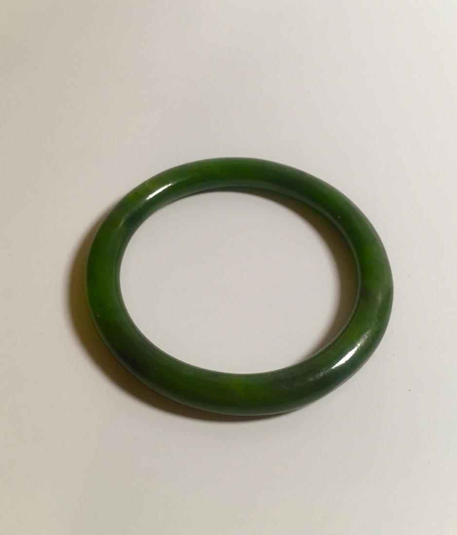 Chinese nephrite green Hetian chinese bangle round