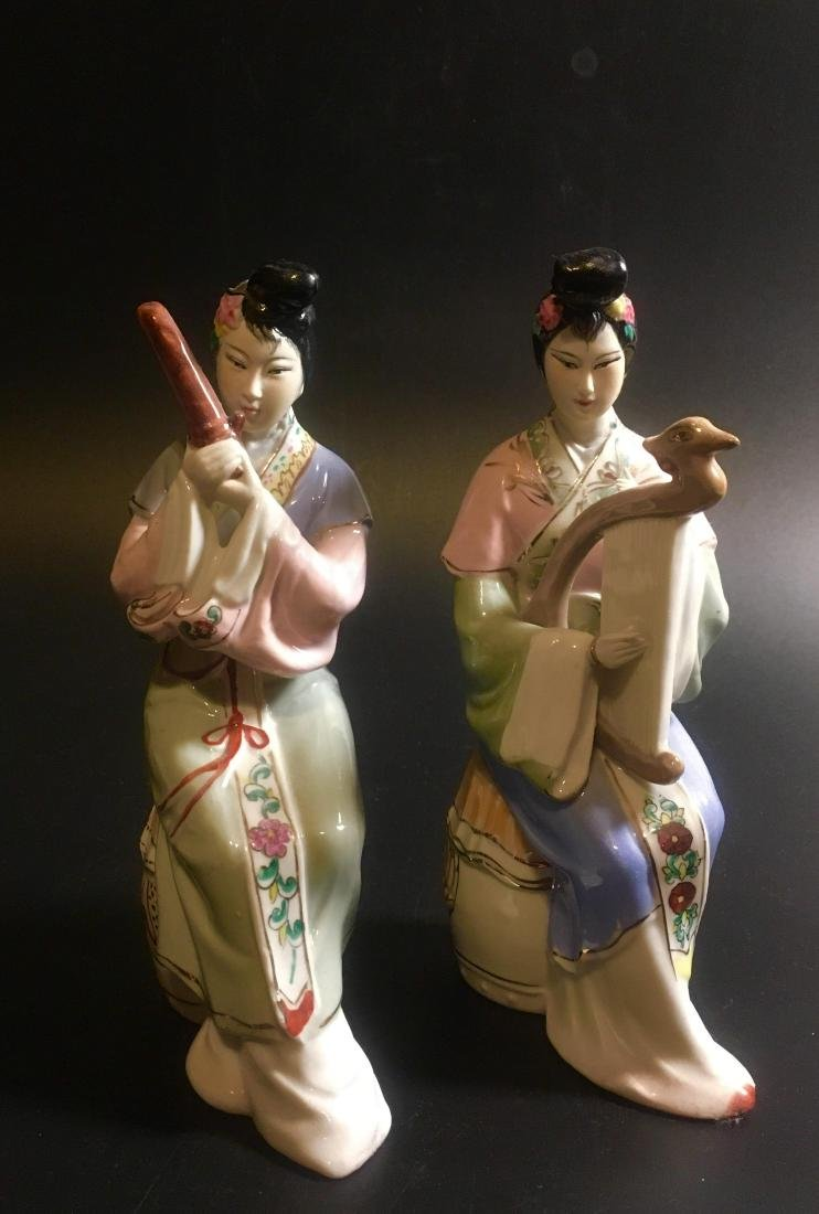 Pair of chinese music figures