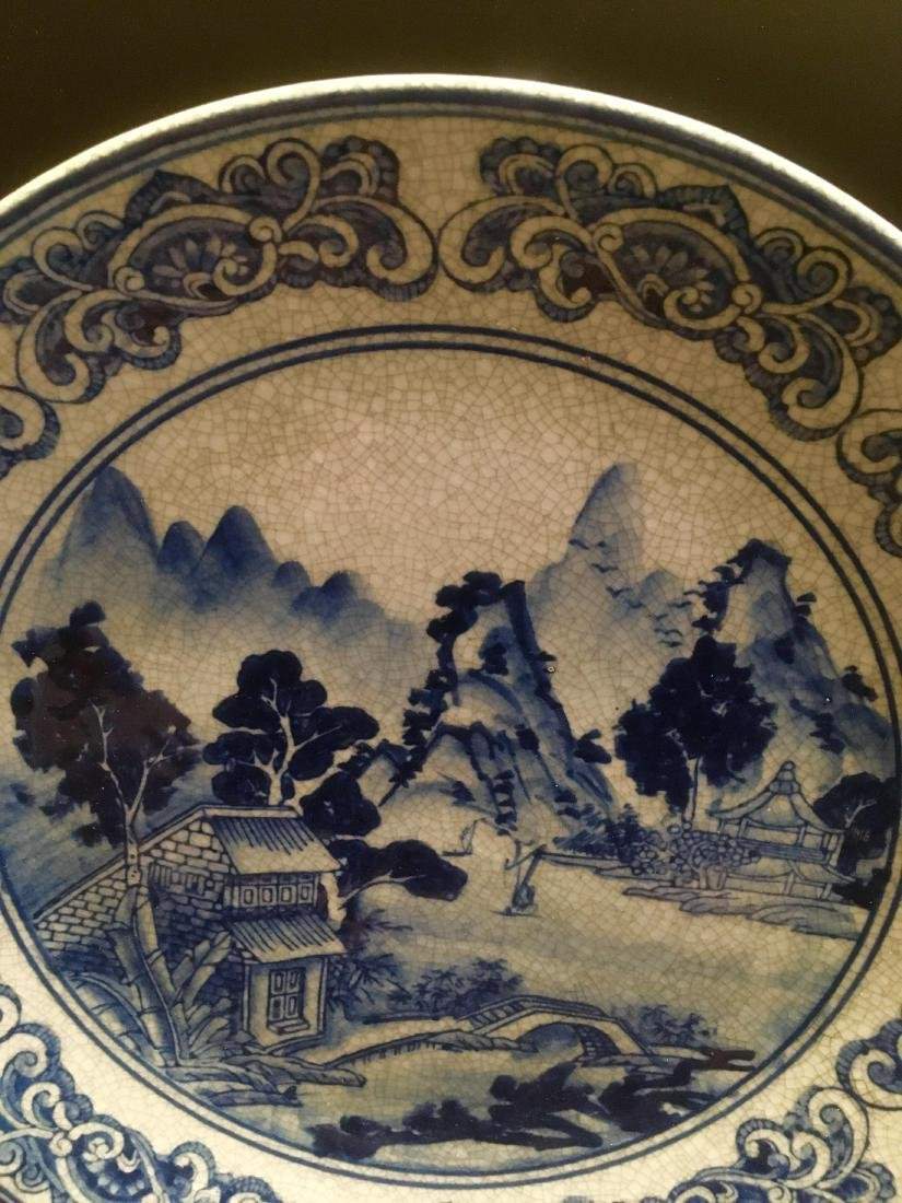 Chinese Antique Blue and White Porcelain tray - 2