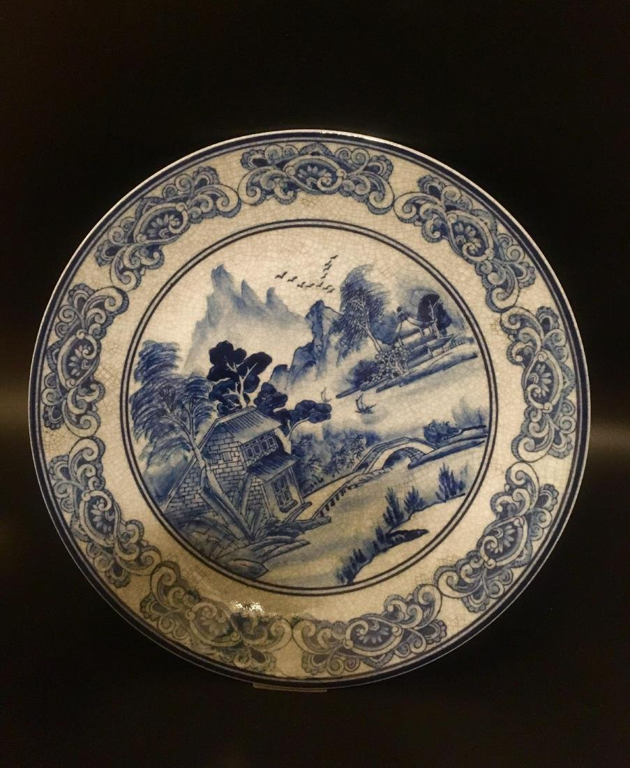Chinese Antique Blue and White Porcelain tray - 3