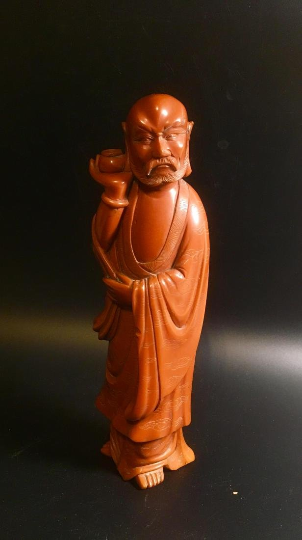 Superb Chinese Carved standing ROYAL SCHOLAR Figure