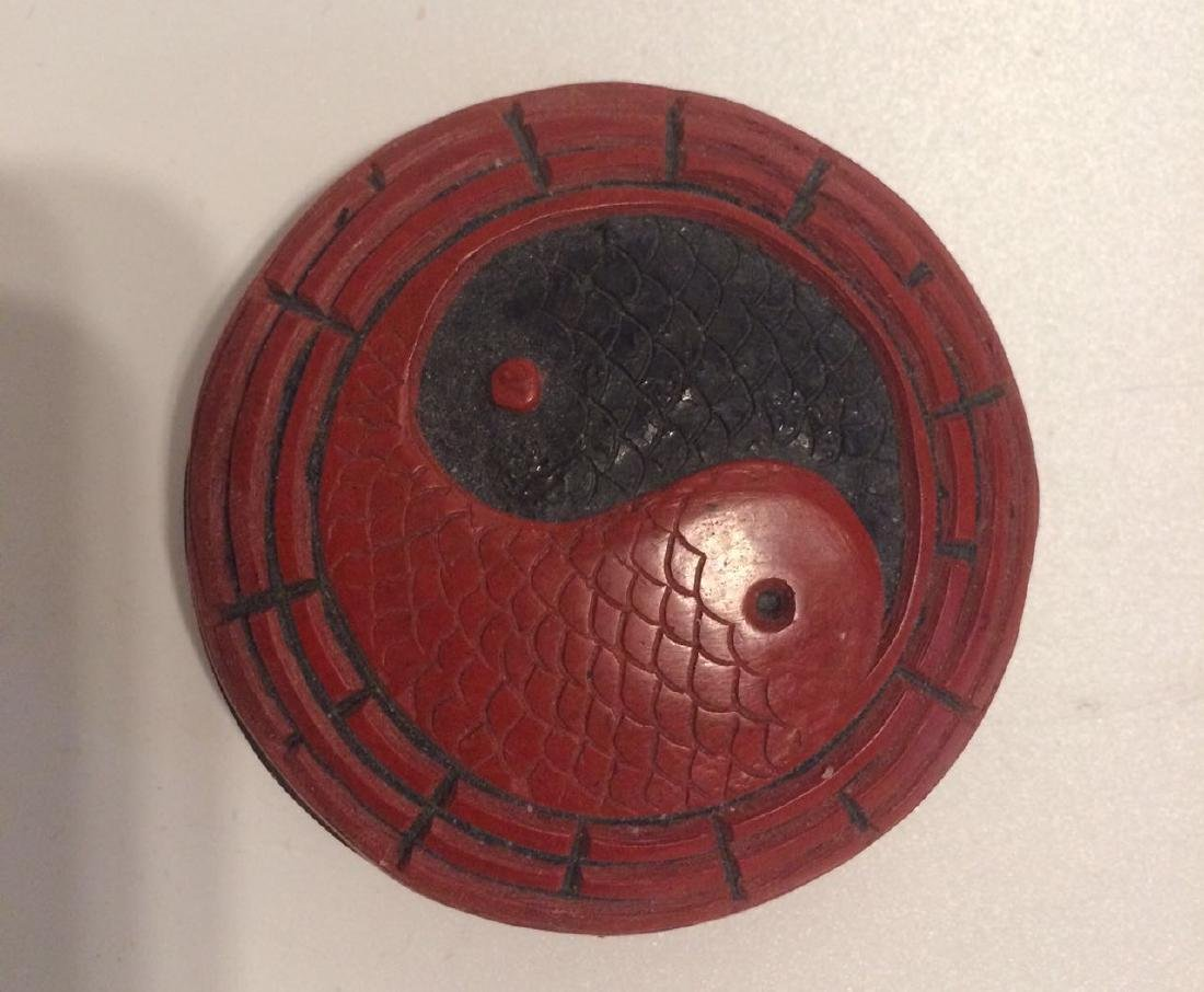 19th qing Chinese Cinnabar Lacquer Round Box