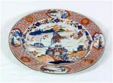 19th Antique asian IMARI PORCELAIN CHARGER