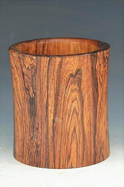 Carved Huanghuali/Hardwood Chinese Brush Pot