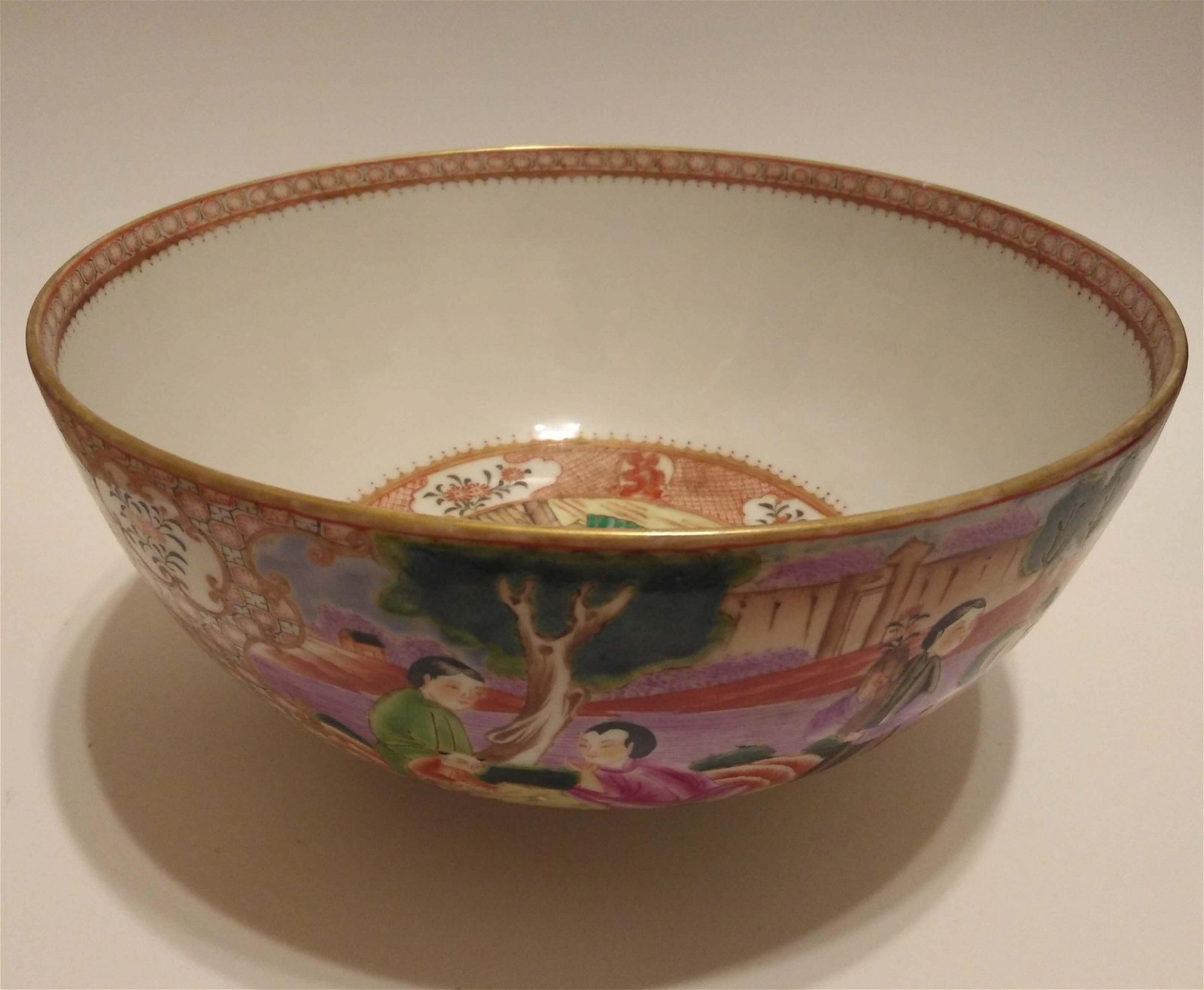 18th Chinese Porcelain Qianlong Famillle Rose bowl