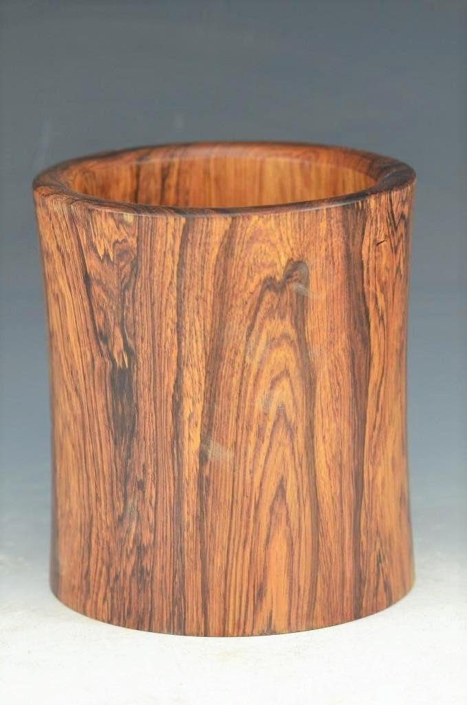 Carved Huanghuali/Hardwood Chinese Brush Pot