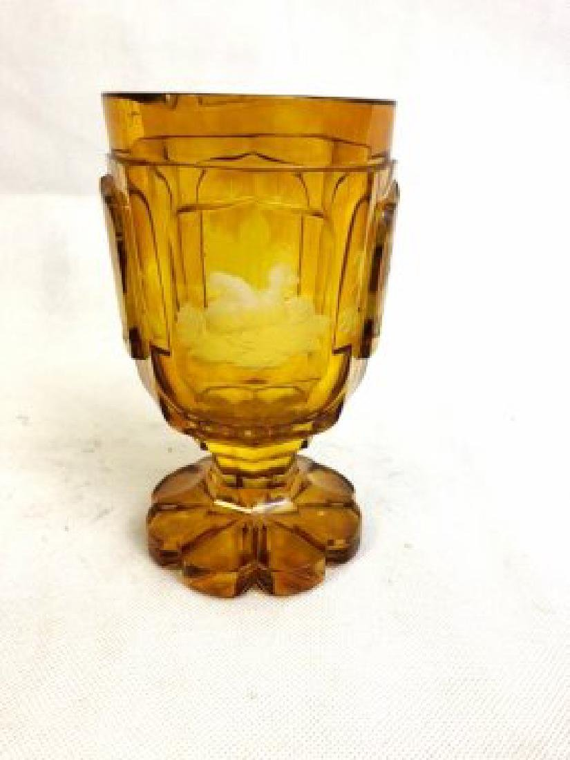 Amber bohemian goblet