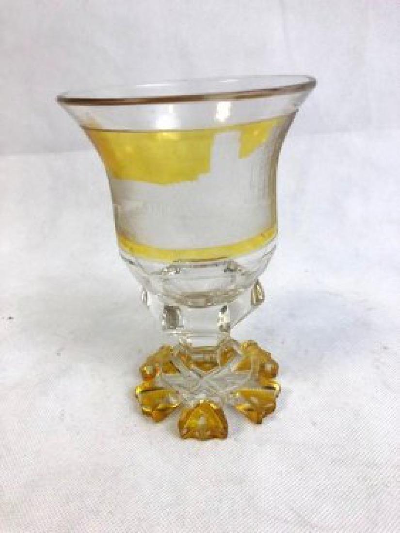 Bohemian amber goblet