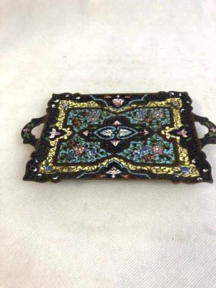 French enamelled tray