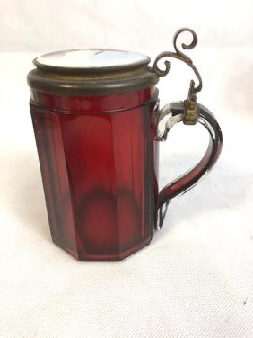 Bohemian ruby tankard