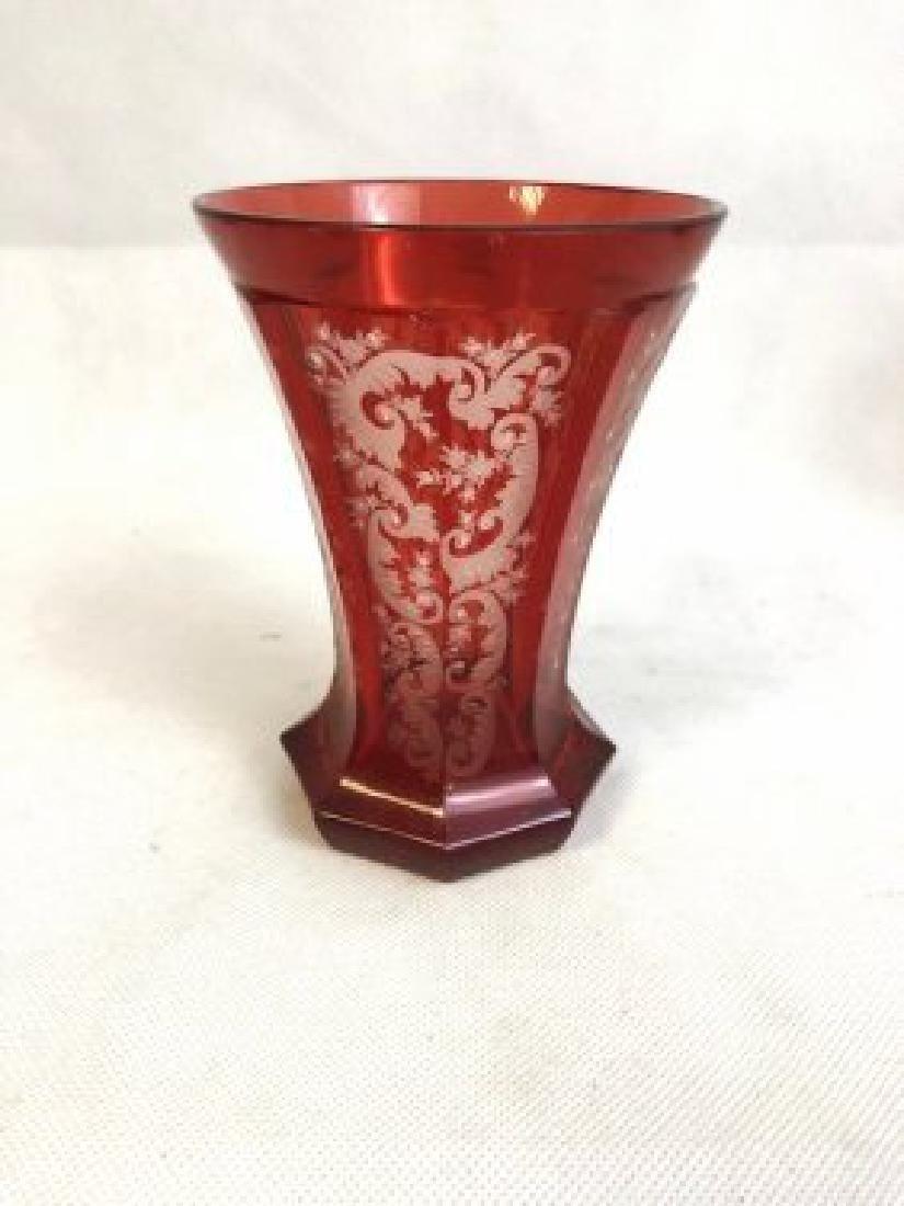 Bohemian ruby beaker