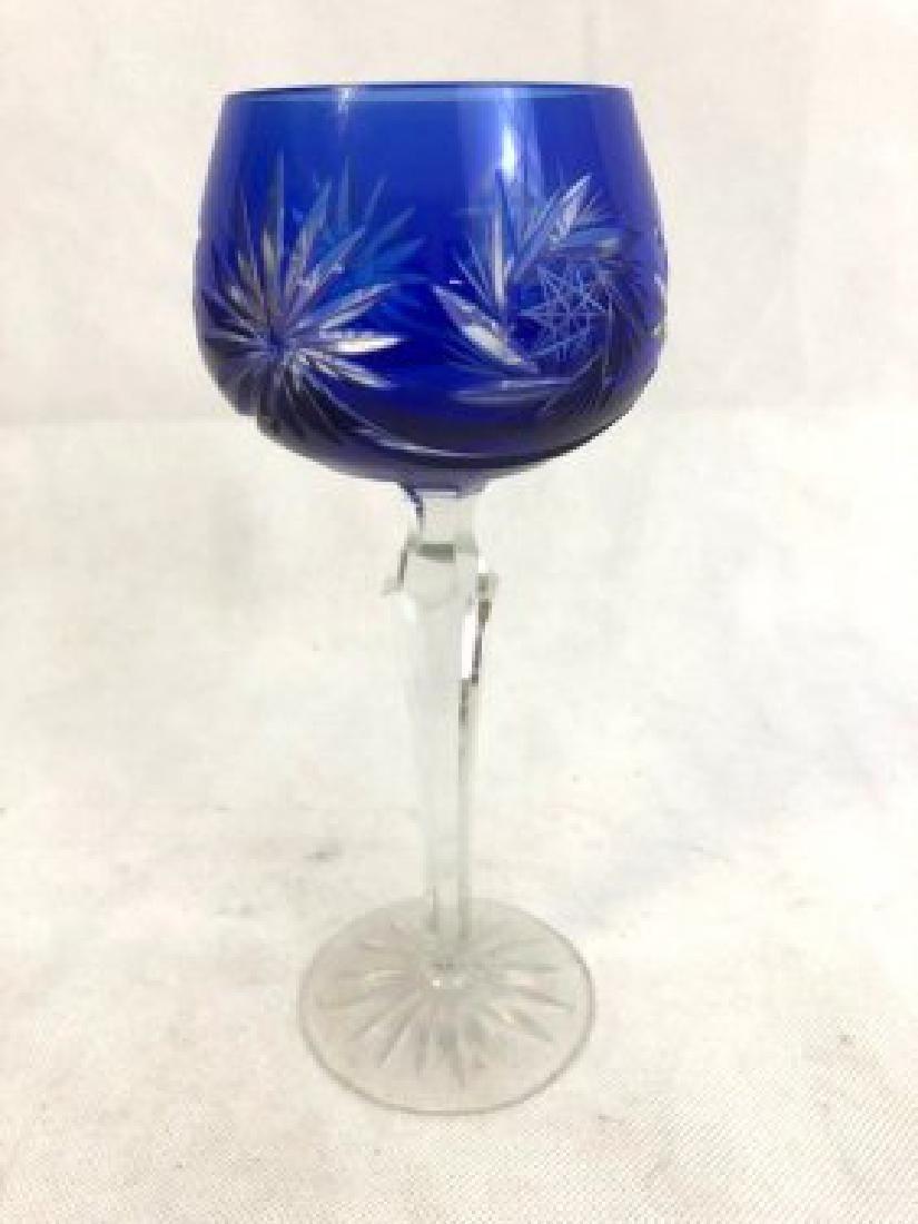 Blue crystal glass