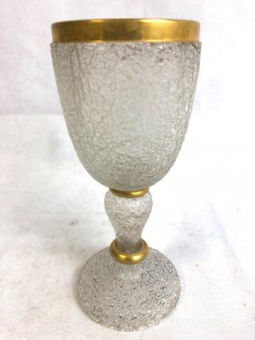 Ice glass goblet