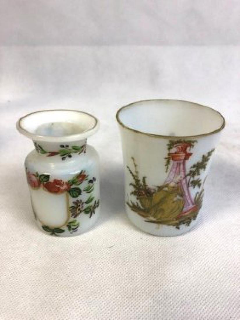 2 opaline Bohemian vase