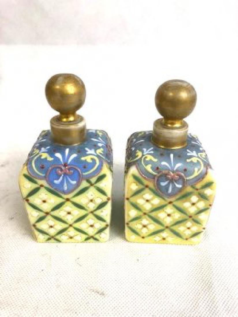 Pair Of Thomas Webb Bottles