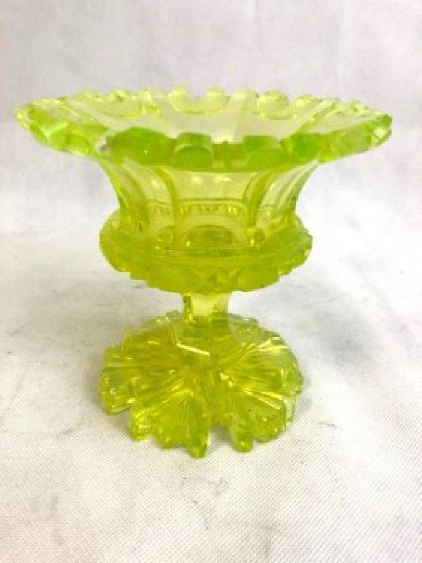 Uranium vaseline Bowl  Glass