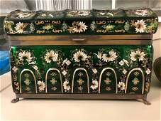 MAGNIFICENT PAIR OF VERY LARGE JEWELRY BOX