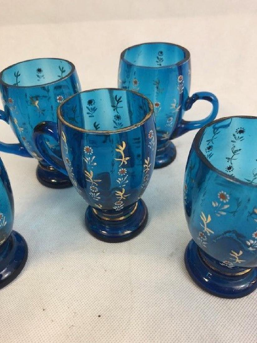 Five blue glasses - 2