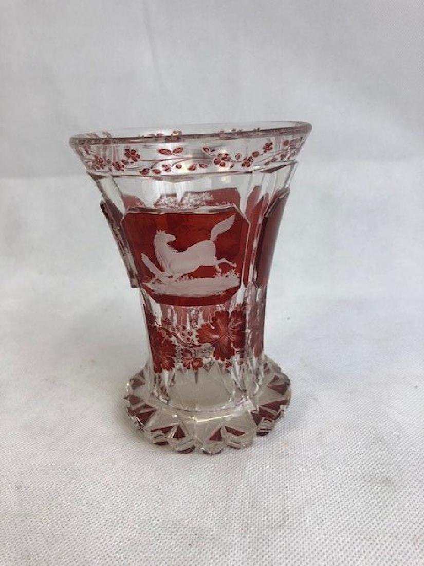 Bohemian Engraved Beaker With Horses