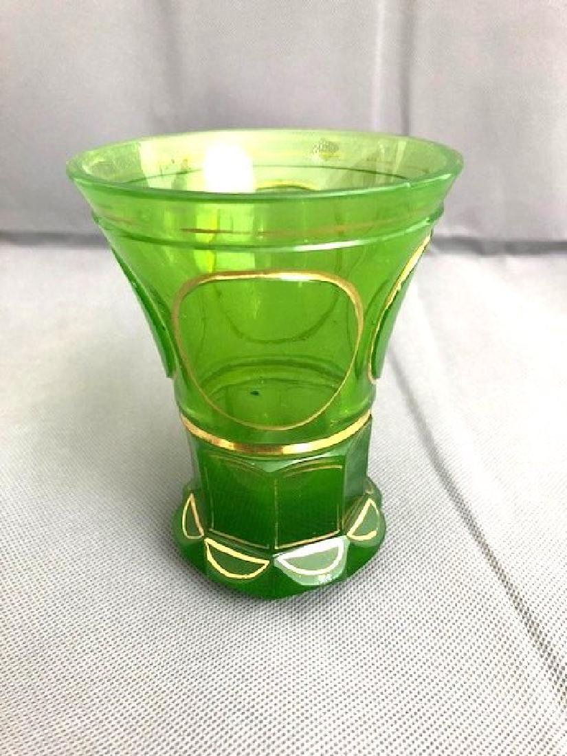 Bohemian Green Beaker