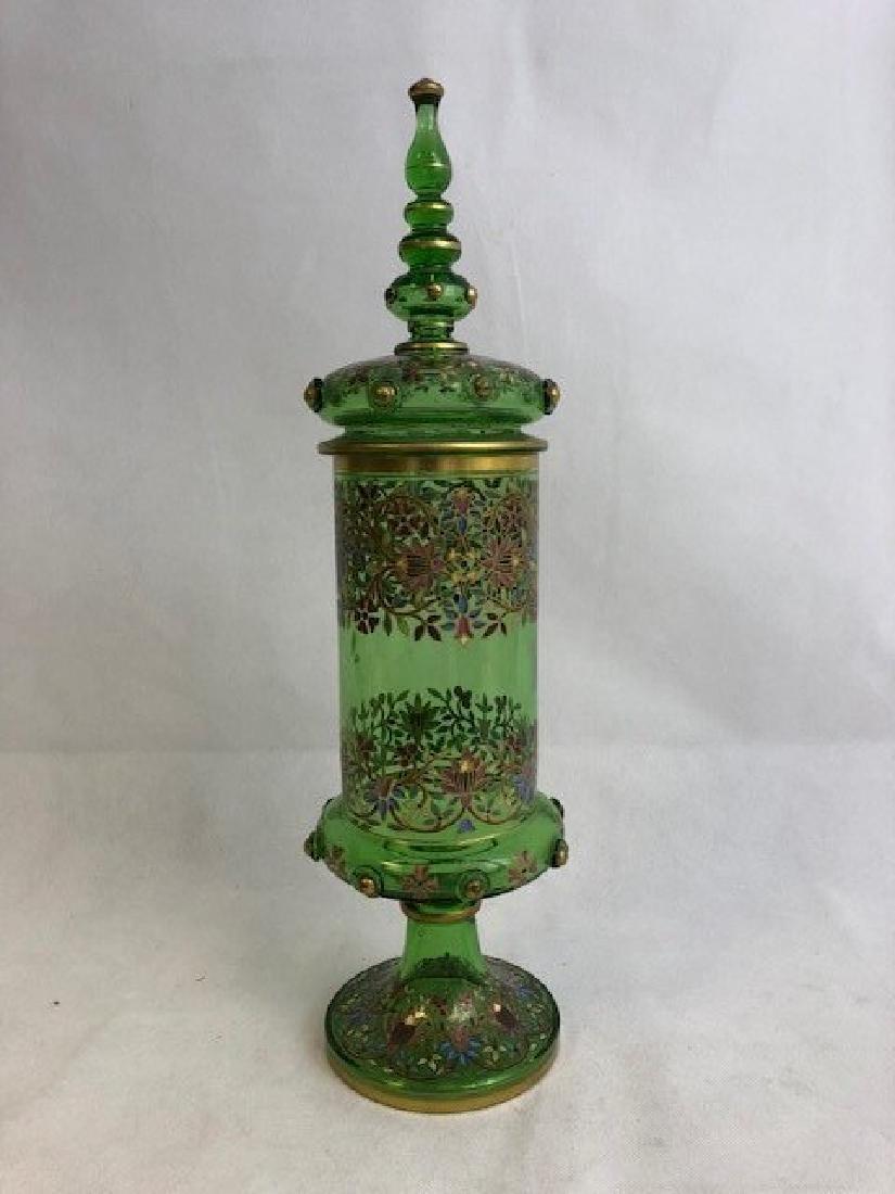 Bohemian Enamelled Vase Cover
