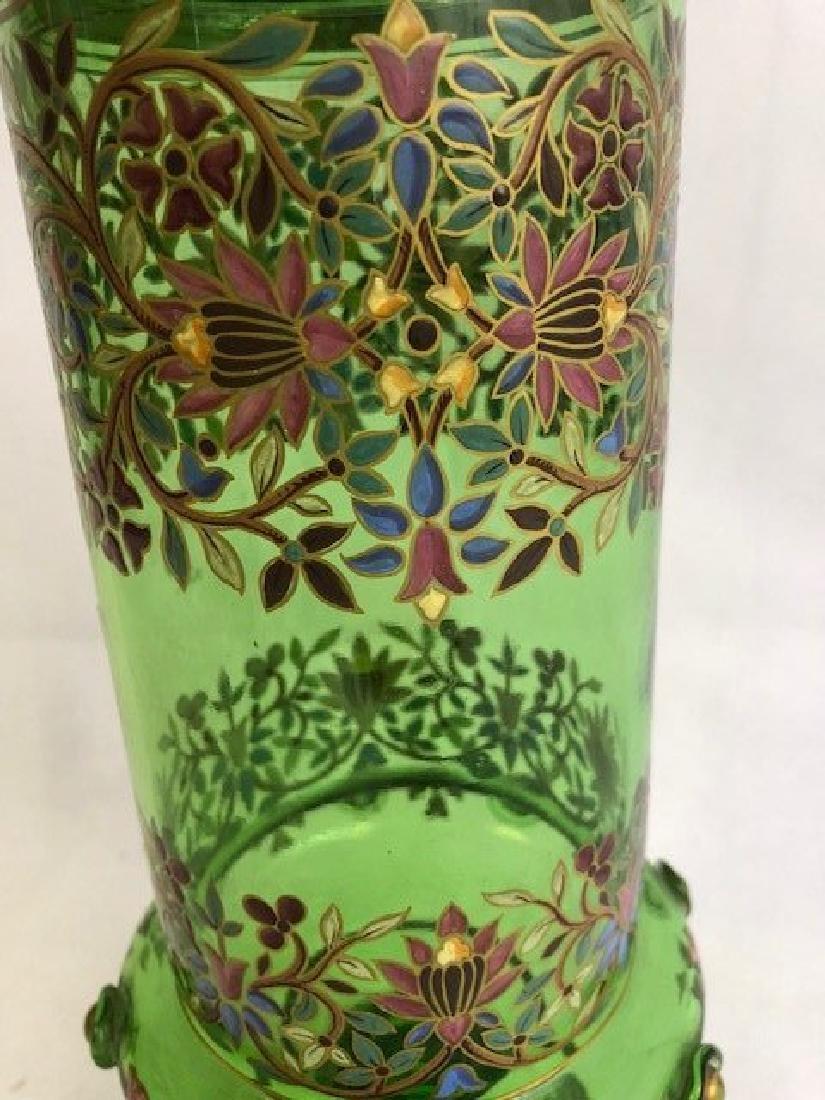 Bohemian Enamelled Vase Cover - 2
