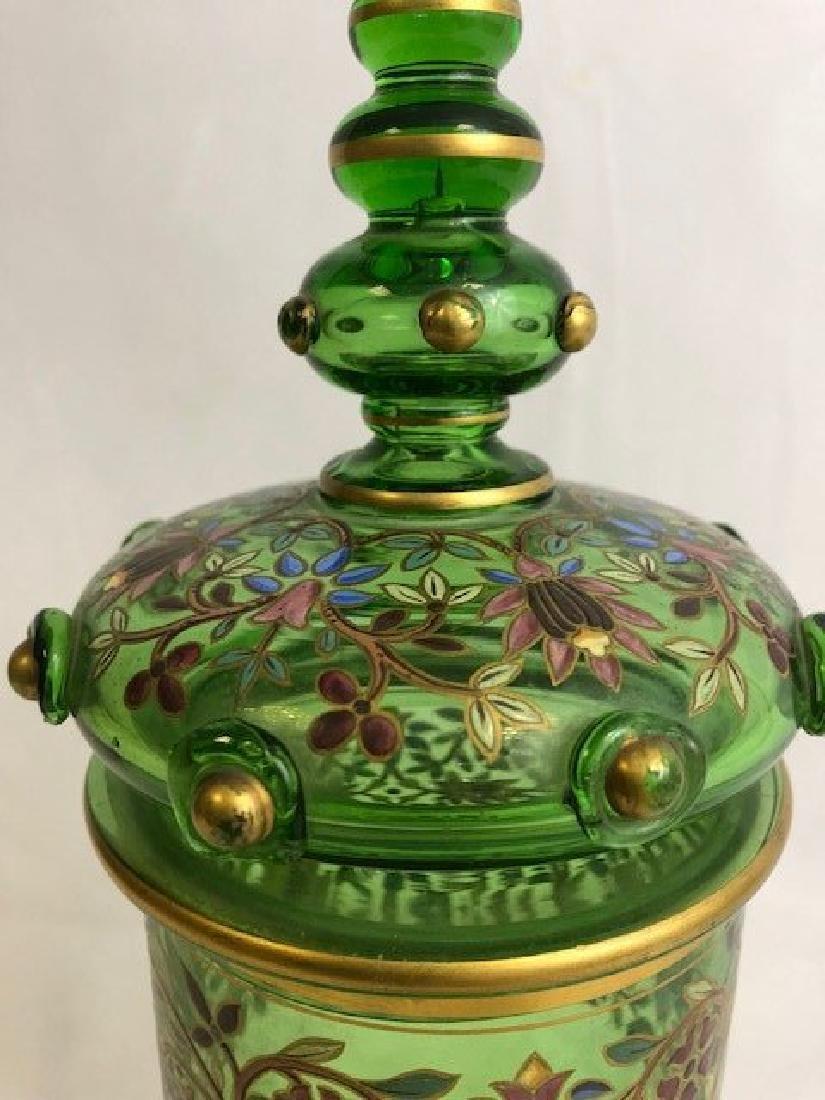 Bohemian Enamelled Vase Cover - 3