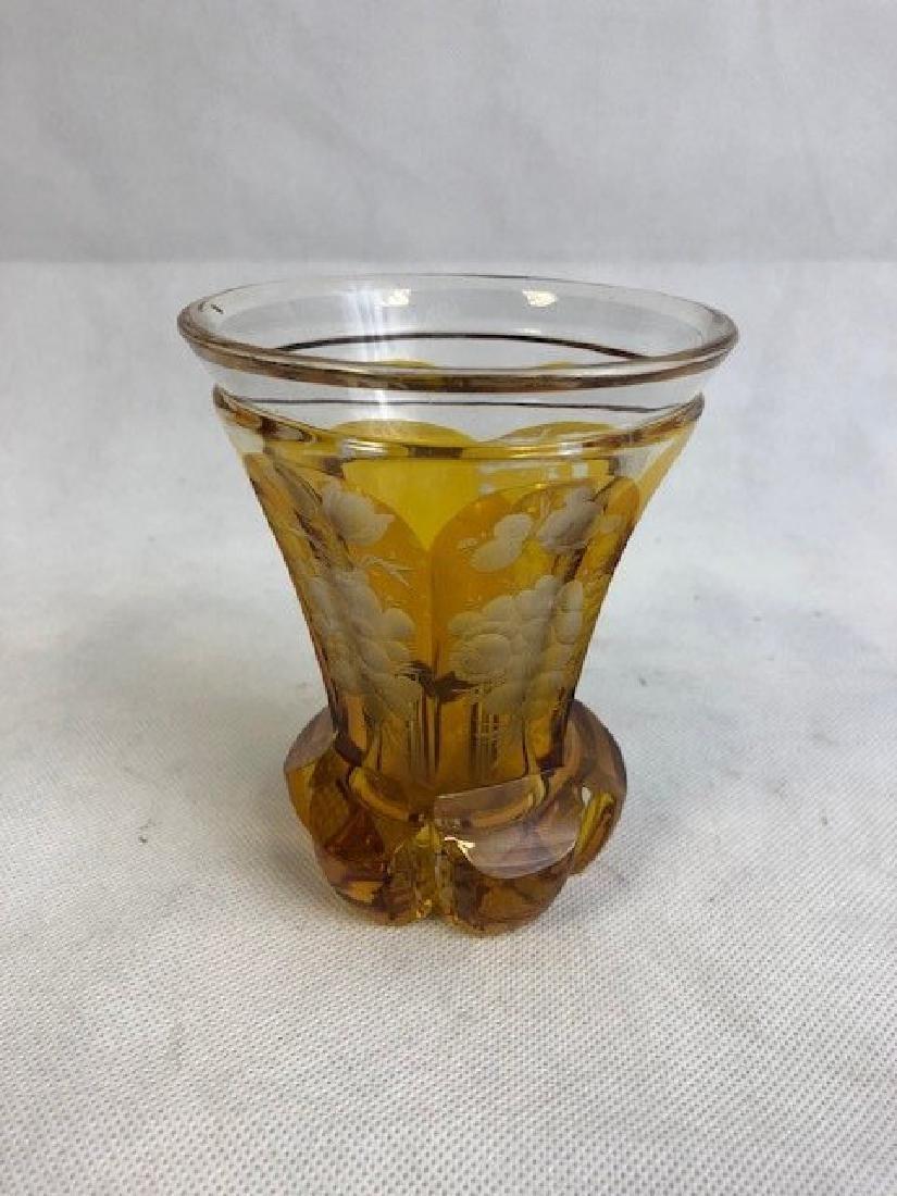 Bohemian Amber Beaker - 2
