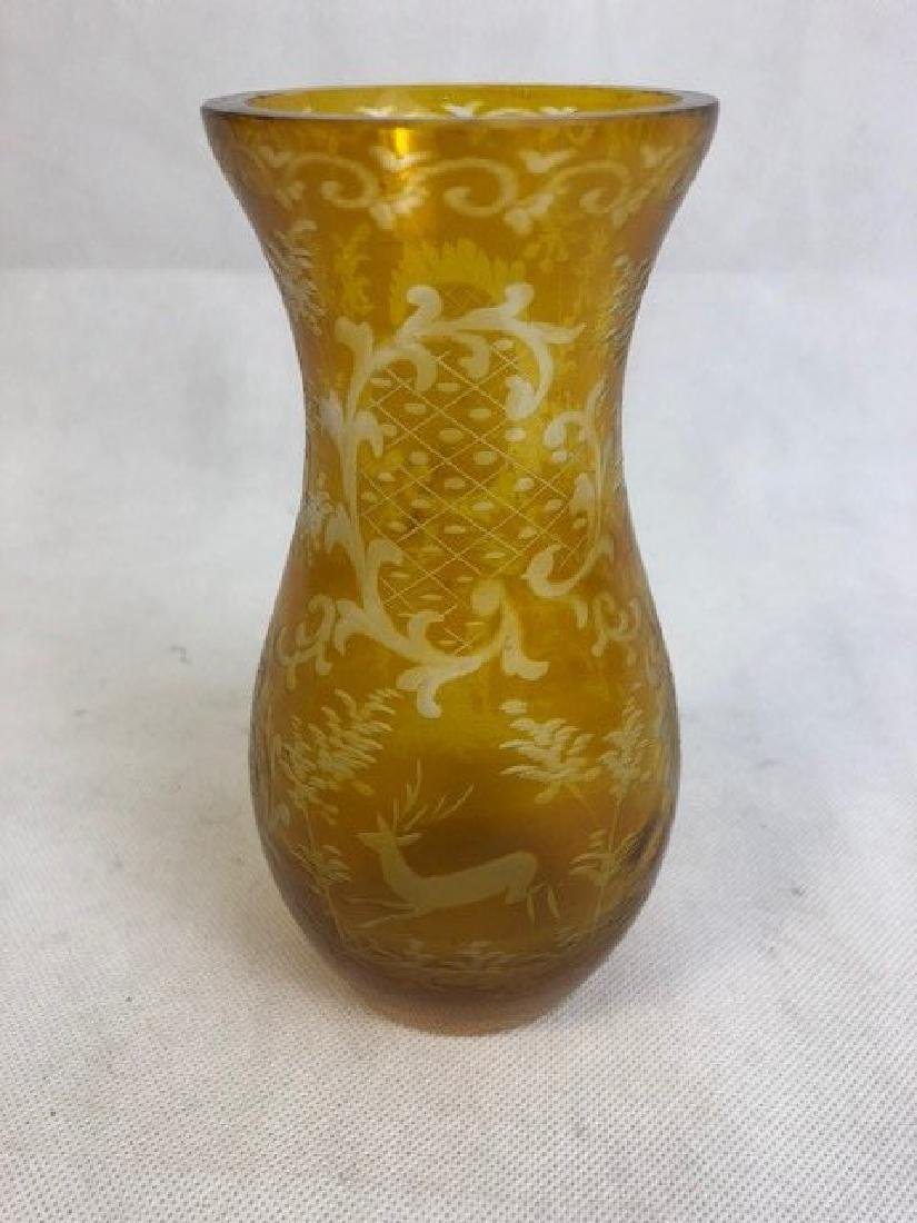 Bohemian Amber Vase