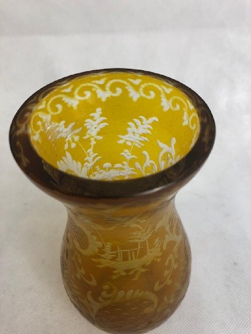 Bohemian Amber Vase - 3