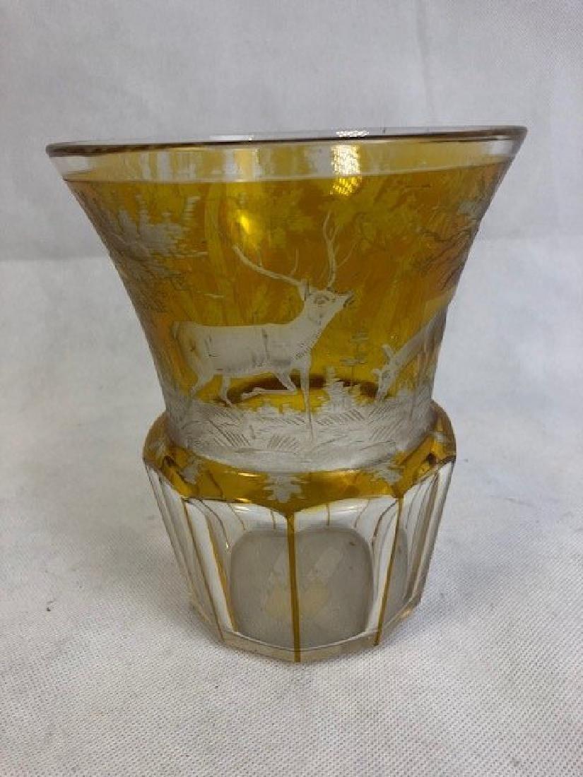 Bohemian Amber Beaker - 3