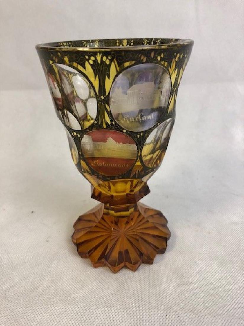 Bohemian Engraved Goblet
